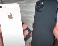 iPhone 12 сравнили с iPhone SE 2016 и 2020
